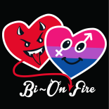 Bi On-fire camiseta negra · My Heart Status