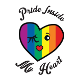 Pride Inside My Heart camiseta blanca · My Heart Status