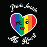 Pride Inside My Heart camiseta negra · My Heart Status