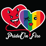 Pride On-fire camiseta negra · My Heart Status